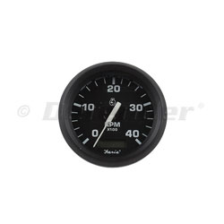 Faria Euro Black 4000 RPM Diesel Tachometer with Hourmeter