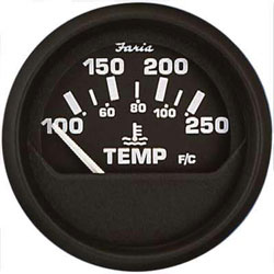 304364 euro black water temperature gauge Faria Fuel Gauge Wiring Diagram at soozxer.org