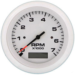 SeaStar Solutions Arctic Series 7000 RPM Tachometer with Hourmeter