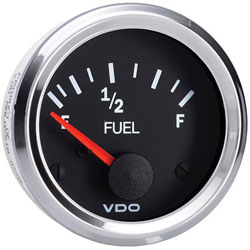VDO Marine Vision Chrome Fuel Level Gauge (301-194)