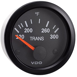 VDO Marine Vision Black Transmission Oil Temperature Gauge