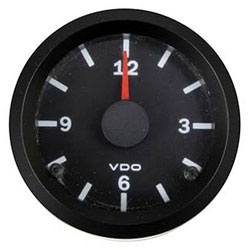 VDO Marine Vision Black Analog Clock