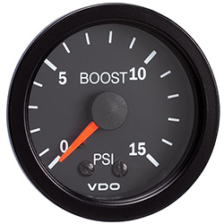 VDO Marine Vision Black Mechanical Boost Gauge & Sender Kit