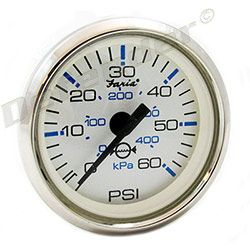 Faria Chesapeake White SS Water Pressure Gauge Kit