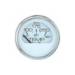 Faria Chesapeake White SS Water Temperature Gauge