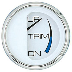 Faria Chesapeake White SS Trim Gauge