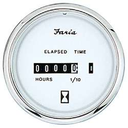 Faria Chesapeake White SS Hourmeter