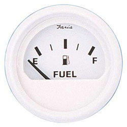 Faria Dress White Fuel Level Gauge