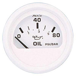 Faria Dress White Oil Pressure Gauge