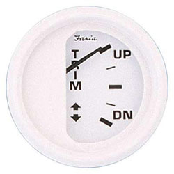 Faria Dress White Trim Gauge