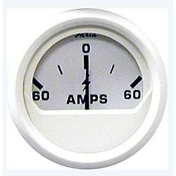 Faria Dress White 60 Amp Ammeter