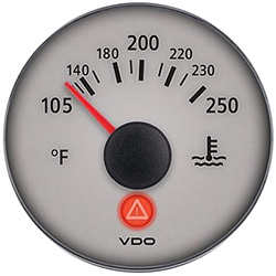 VDO Marine Viewline Sterling Water Temperature Gauge
