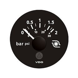 VDO Marine Viewline Onyx Turbo Gauge