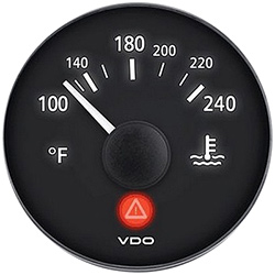 VDO Marine Viewline Onyx Water Temperature Gauge