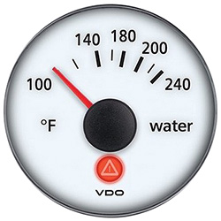 VDO Marine Viewline Ivory Water Temperature Gauge