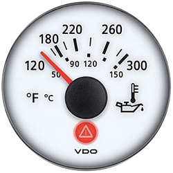 VDO Marine Viewline Ivory Oil Temperature Gauge