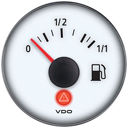 VDO Marine Viewline Ivory Fuel Level Gauge & Sender Kit