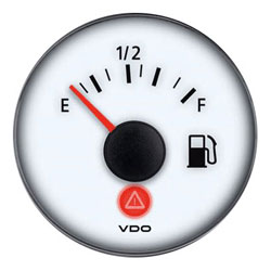 VDO Marine Viewline Ivory Fuel Level Gauge