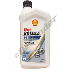 Shell Rotella T4 Triple Protection 15W-40 Heavy Duty Diesel Engine Oil