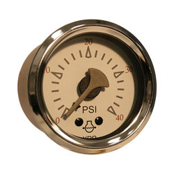 VDO Allentare Water Pressure Gauge - Illuminated