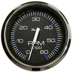 Faria Chesapeake Black SS 6000 RPM Tachometer