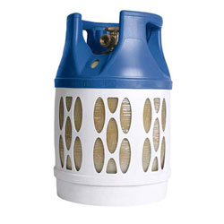 Viking Composite See-Through LPG Propane Gas Cylinder - 17 lbs