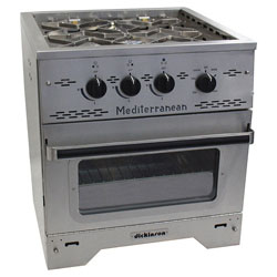 Dickinson Marine Mediterranean 3-Burner Propane Gas Stove With Broiler