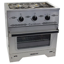 dickinson marine caribbean 2burner propane gas stove with broiler - Gas Ovens