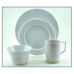Galleyware Melamine Dinnerware Set - Solid White