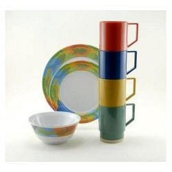Galleyware Melamine Dinnerware Set - Calypso