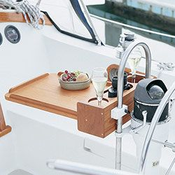 Whitecap Teak Four Drink Holder with Removable Table