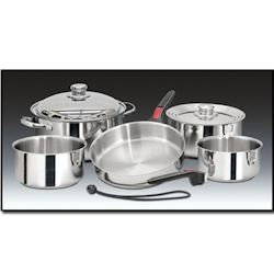 Magma 10-Piece Nesting Cookware Set with Stainless Steel Interior