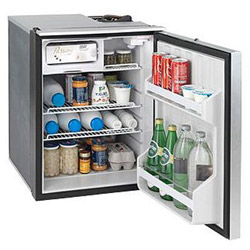Isotherm Cruise 85 Elegance Refrigerator / Freezer - 3.0 cu ft, Silver, AC/DC