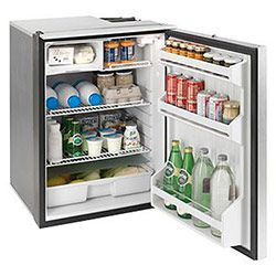 Isotherm Cruise 130 Elegance Refrigerator / Freezer - 4.6 cu ft, Silver, AC/DC