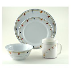 Galleyware Melamine Dinnerware Set - Flags