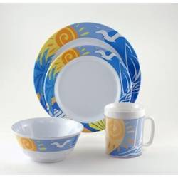 Galleyware Melamine Dinnerware Set - Ocean Breeze