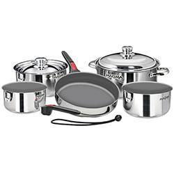 Magma 10-Piece Nesting Induction Cookware Set with Ceramica Non-Stick