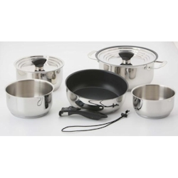 Galleyware 14-Piece Hybrid Nesting Induction Cookware Set  with Non-Stick