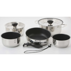 Galleyware 14-Piece Nesting Induction Cookware Set with Non-Stick