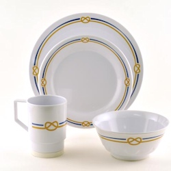 Galleyware Melamine Dinnerware Large Box Set - Rope