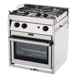 Force 10 2-Burner European Compact Propane Gas Stove With Oven