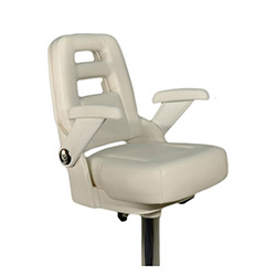 Pompanette T-2005-W Premier Helm Seat - Seat with Slider
