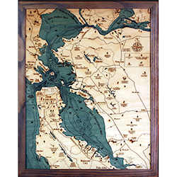 Wood Chart San Francisco Bay Area - Small Size - Internet Orders Only