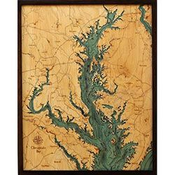 Wood Chart Chesapeake Bay - Store Pick-Up Only