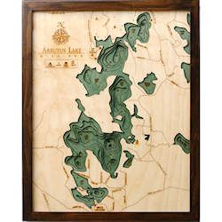 Wood Chart Arbutus Lake - Internet Orders Only