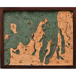 Wood Chart Grand Traverse Bay & Leelanau Peninsula - Small - Internet Only