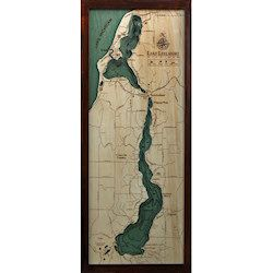 Wood Chart Lake Leelanau - Internet Orders Only