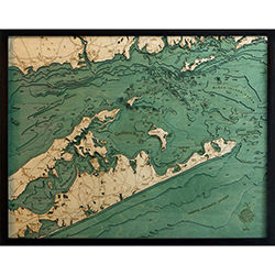 Wood Chart Long Island Sound - Internet Orders Only