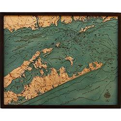 Wood Chart Long Island Sound - Store Pick-Up Only