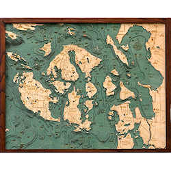Wood Chart San Juan Islands - Internet Orders Only